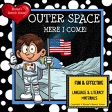 OUTER SPACE ASTRONAUT Early Reader Literacy Circle Speech Therapy