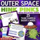 OUTER SPACE ACTIVITY / Hink Pink Task Cards & Boom Cards f