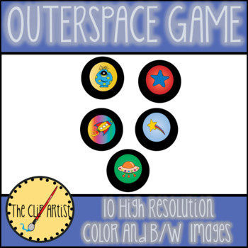 Outerspace Game Board Clip Art