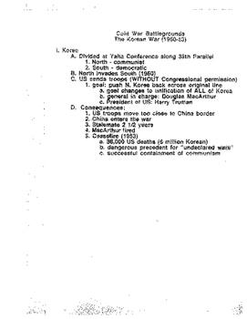 OUTLINE: Cold War 1946-1991
