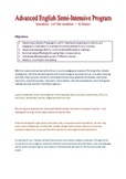 OUTLINE for 13 lesson (42 hour) Advanced General Business English
