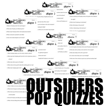 The Outsiders 12 Pop Quizze  By Created For Learning | Teachers