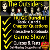 The Outsiders Novel Study Unit  - Printable AND Google with Self-Grading Tests