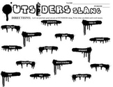 THE OUTSIDERS 34 Slang Phrases - Spraypaint Graffiti (by S