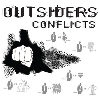 THE OUTSIDERS Conflict Graphic Organizer - 6 Types of Conflict (by S.E. Hinton)