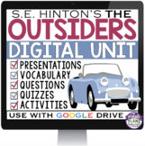 OUTSIDERS DIGITAL PAPERLESS UNIT PLAN FOR GOOGLE DRIVE/ GOOGLE CLASSROOM