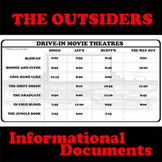 THE OUTSIDERS Drive-In Movie Times - Non-Fiction Docs