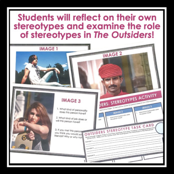 OUTSIDERS ACTIVITY: STEROTYPES