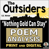 """OUTSIDERS """"Nothing Gold Can Stay"""" Poem Analysis - Novel St"""