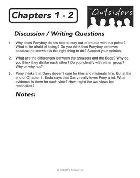 OUTSIDERS - Novel Study Resource Bundle