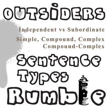 THE OUTSIDERS Phrases, Clauses, and Sentence Types Activity and PowerPoint
