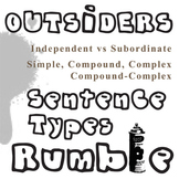 THE OUTSIDERS Phrases, Clauses, and Sentence Types Activit