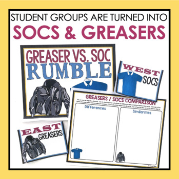 OUTSIDERS ACTIVITY: SOCS AND GREASERS