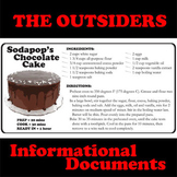 THE OUTSIDERS Sodapop's Cake Recipe - Non-Fiction Docs
