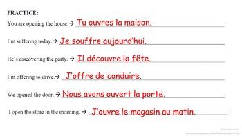 OUVRIR, OFFRIR (Irregular IR verbs) : French Quick Lesson