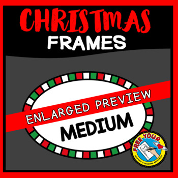 OVAL CHRISTMAS CLIPART BORDERS AND FRAMES
