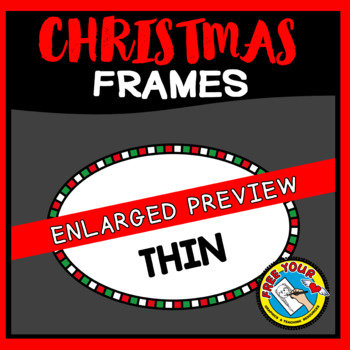 OVAL CHRISTMAS BORDERS AND FRAMES CLIPART