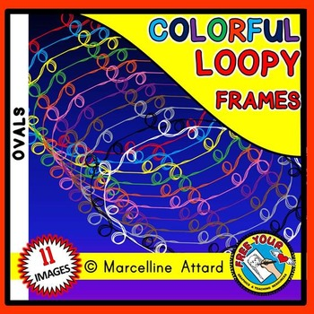 OVAL LOOPY CLIPART FRAMES: OVAL FRAMES CLIPART: LOOPY BORDERS: LOOPY FRAMES