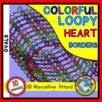 OVAL LOOPY HEART BORDERS AND FRAMES CLIPART