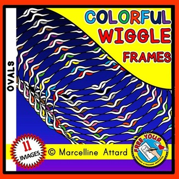 WIGGLE OVAL BORDERS AND FRAMES CLIPART