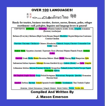OVER 100 LANGUAGES (GREAT FOR ESL & FOREIGN LANGUAGES)