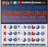 OVERLAPPING PRIMARY & SECONDARY COLOR FRACTIONS CIRCLES (ADDING)