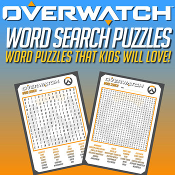 OVERWATCH - WORD SEARCH PUZZLES - Kids will love these!!!
