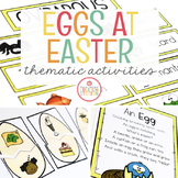 OVIPAROUS EASTER EGGS THEME ACTIVITIES FOR PRESCHOOL, PRE-K AND KINDERGARTEN