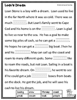 OW, OA & OE Long O Second Grade Decodable Stories Level 2 Unit 13 Intervention