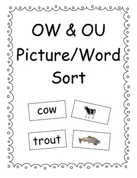 OW & OU Picture/Word Sort