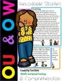 OW & OU  Second Grade Decodable Stories Level 2 Unit 14 Intervention RTI