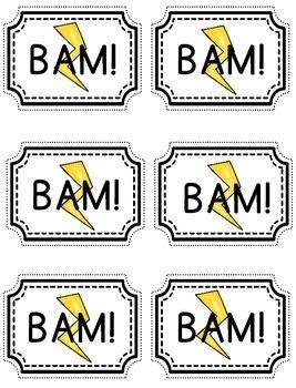 OW, OU Vowel Card Game BAM!