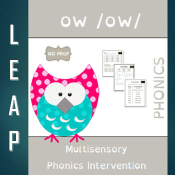 OW - OW Diphthong - No Prep Phonics