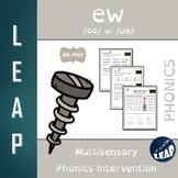 EW - EW Diphthong and Long U - No Prep Phonics