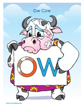 OW (Ow Cow) Word Buddy Poster
