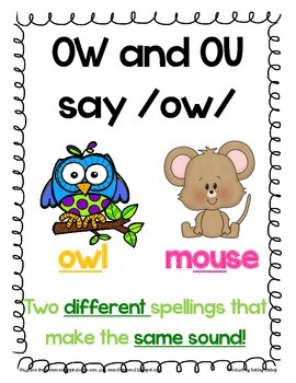OW Packet! Meet Owl and Mouse (Poster, Games, Sorts and Worksheets included)