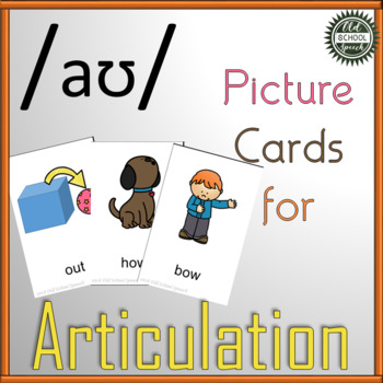 """Vowel Articulation Cards for Speech Therapy: """"ow"""""""
