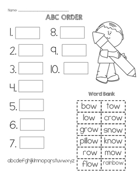 OW Words ABC Order