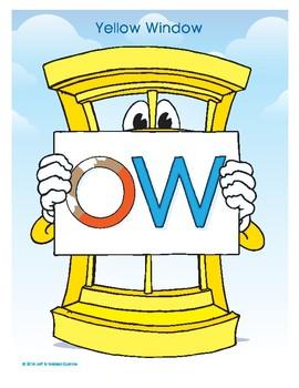 OW (Yellow Window) Word Buddy Poster