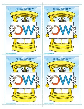 OW (Yellow Window) Word Buddy Card
