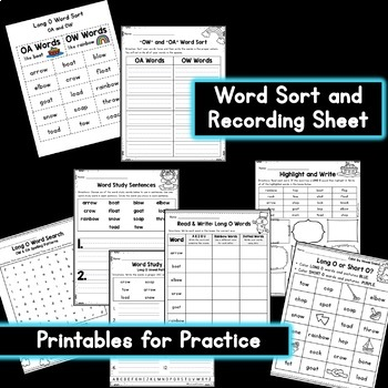 OW and OA Word Sort