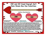 OW and OO Vowel Digraph Sort Owie Wowie Boo Hoo Valentines
