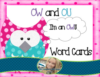 OW and OU Word Cards