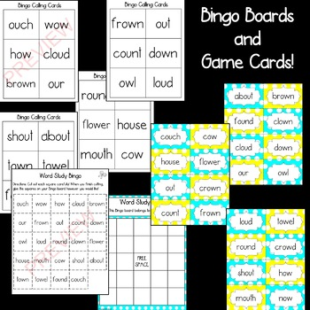 OW and OU Diphthong [[Word Family GAMES!]]
