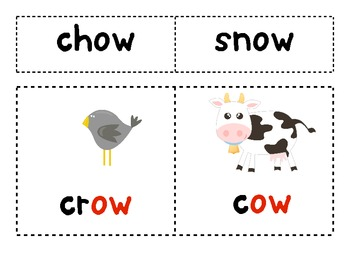 OW as in Crow and Cow