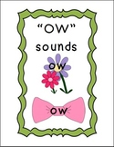 Phonics: 'OW' Sounds Matching Game and Booklet