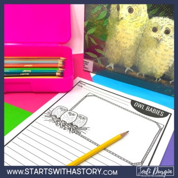 OWL BABIES ACTIVITIES read aloud lessons WRITING PROMPTS fall book COMPREHENSION