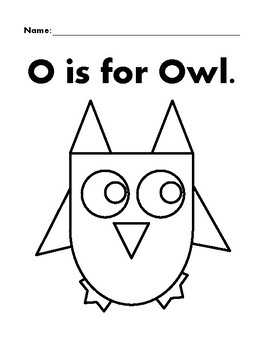 OWL Basic Shapes Coloring Page