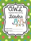 OWL Binder Polka Dots