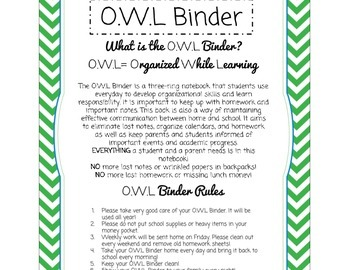 O.W.L Binder